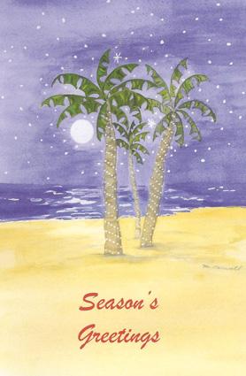 twighlight palm tree christmas card - Palm Tree Christmas Cards